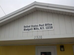 United States Post Office in Blodgett Mills (photo credit: Timothy Oefelein)