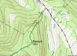 Topo map of Beech Hill
