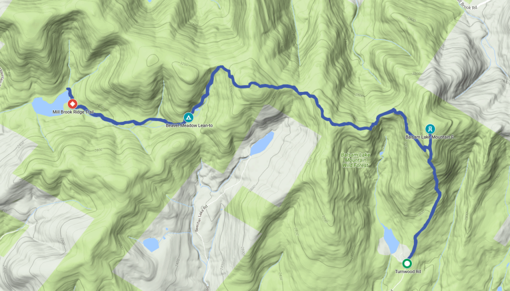 Terrain and route map