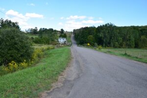 Looking up Cochrane Road from CR 14