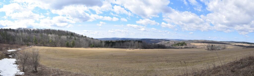 Panoramic view of the fields, hills and valleys near Wind Fall Rd - FLT M10