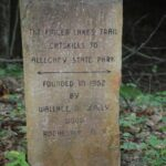 Stone FLT marker near Hesse Lean-to