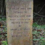 Stone FLT marker near Hesse Lean-to