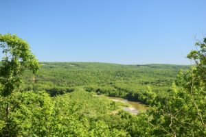 View looking south over Genesee River valley