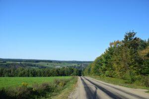 View looking north along Rushford Rd