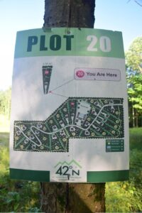 Housing development plot map west of Poverty Hill Rd